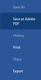 save as adobe pdf